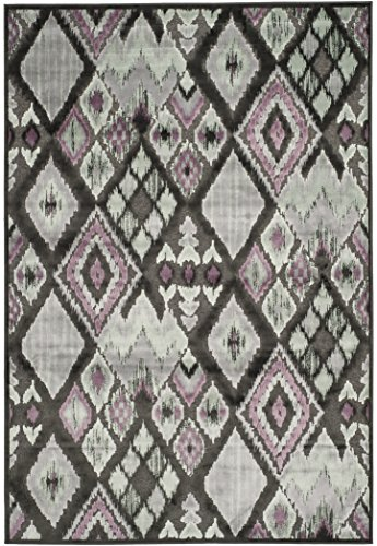 Safavieh PAR114-330 Moderner Teppich, PAR114, Handgetufteter Wolle, Holzkohle Grau/Mehrfarbig, 243 X 340 cm