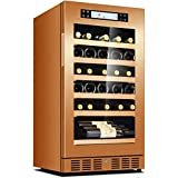 GXFC 20' Cave à vin réfrigérante, Réfrigérée à vin Intégré ou Autonome 35 Bouteilles Température constante Intelligente/Purification des ions négatifs/Opération silencieuse