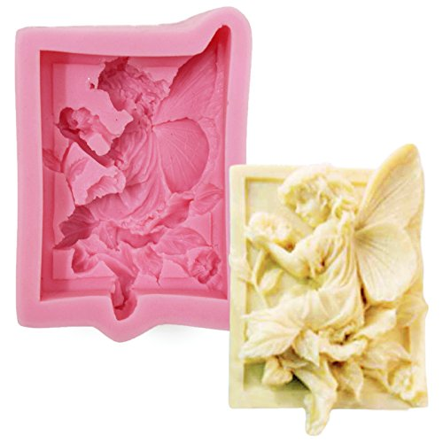 Asian Hobby Crafts Silicone Resin Gumpaste Fondant Clay Marzipan Cake Mould: Design :Angel