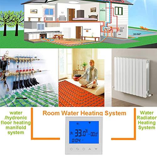 Wenwenzui HY03WW-2 5 + 2 Tage Programmierbarer Thermostat Verdrahteter Typ Wasserwärmeregler weiß -