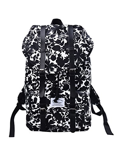 Douguyan Nylon Daypack Rucksack Computer 17 Zoll Wasserdicht Reiserucksack Wanderrucksack Sportrucksack Travel School Bag Backpack Student Damen Herren Männer Girls Boys Schule E00286 Schwarz