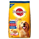 #8: Pedigree Dry Dog Food, Chicken & Vegetables for Adult Dogs – 3 kg