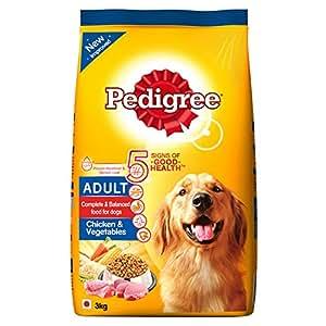 Pedigree Dry Dog Food, Chicken & Vegetables for Adult Dogs – 3 kg