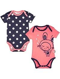 Petit Béguin - Lot de 2 bodies bébé fille manches courtes Minilutin