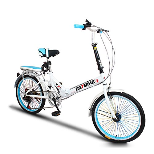 XQ Vélo Pliant Vélo Ultra-léger Portable Mini Petit Vitesse Variable Amortissement 20 Pouces...