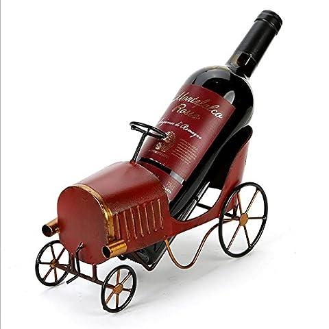 XYYN Weinflaschenhalter Europäisch Klassisch Auto Weinregale Retro Amerikanisch Dorf Dekoration Weinregal Wohnzimmer (Cabinet Grille)