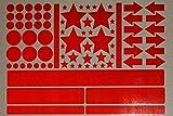 easydruck24de Aufkleber-Set Sterne Kreise Pfeile Streifen I rot, selbstklebend I Bogen 30 x 20 cm I für Fahrrad-Helm Auto Kinderwagen draußen I reflex_003