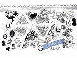 Vintage Parts DIY Principiantes Juego Plata Joyas Manualidades y Perlas Set Negro Color Blanco más de 500Piezas para más de 40Joyas Piezas como Pendientes y Cadenas