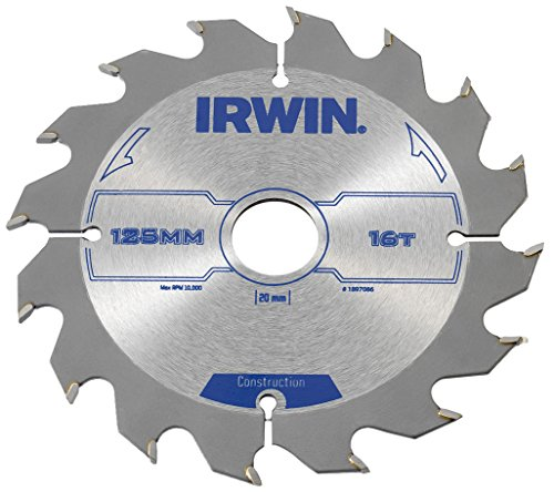 Atb-cross (IRWIN IRW1897086 125 x 20 mm 16-Teeth Kreissägeblatt mit ATB Mahlgrößen Zahn)