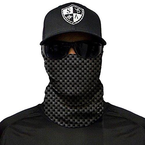 SA Fishing Company Face Shield Sturmhaube *viele verschiedene Designs* Multiunktionstuch Maske Fishing Totenkopf Schal Skull Bandana Gesichtsmaske Halstuch Ski Motorrad Paintball Halloween Maske (Carbon Fiber)