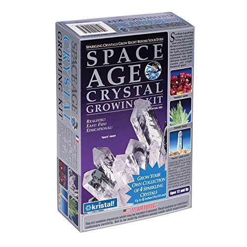 Space Age Crystal Growing Kit: 4 Crystals-3 Clusters And Single Crystal (Cluster Space Crystal Age)
