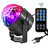 Led Sound Aktivierte Party Lichter Disco Ball DJ Strobe Club Lampe 7 Modi Magic Mini Led Bühnenbeleuchtung für Weihnachten Home Room Dance Parties Geburtstag DJ Bar Hochzeit Show Club Pub