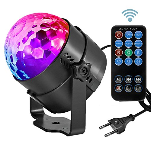 Led Sound Aktivierte Party Lichter Disco Ball DJ Strobe Club Lampe 7 Modi Magic Mini Led Bühnenbeleuchtung für Weihnachten Home Room Dance Parties Geburtstag DJ Bar Hochzeit Show Club - Baby-mädchen-spiel-yard