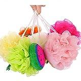 GLQ Bañera de baño Bola Toalla Color Fruta Forma/Lindo baño Flor baño/Espuma Rica con Buena Limpieza Almacenamiento de energía Conveniente baño Esencial