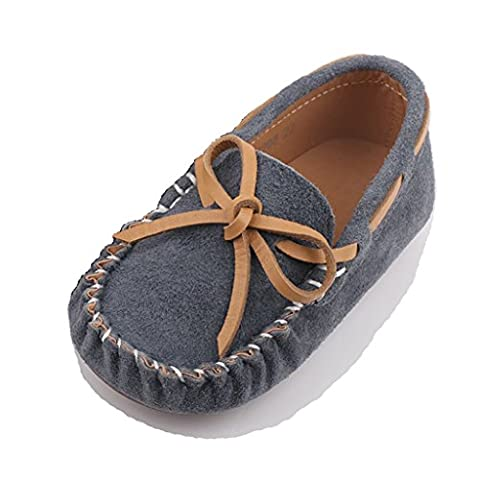 Eagsouni® Unisex Kid's bow knot Penny Loafers Moccasins Casual Boat Shoes Flats