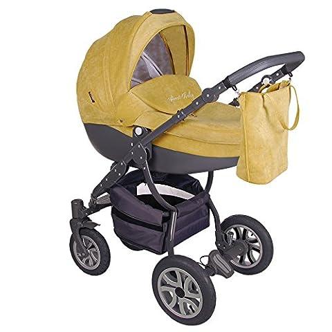 Classico Pastell - Moderner, leichter Kinderwagen im formschönen Design - Kombi Kinderwagen 2 in 1 mit Adapter für MaxiCosi Babyschale und viel Zubehör