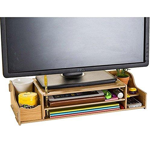 Nadamoo Bürobedarf DIY Holz Computer monitor ständer Riser höhenverstellbar Bildschirmständer Desktop Organizer Ständer