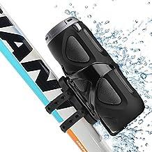 Avantre Altavoz 10W Bluetooth Bicicleta con soporte, Impermeable (IPX4), enganche para Uso Portátil Exterior, Sonido Premium, Admite Tarjetas SD y TF, NFC - Cyclone