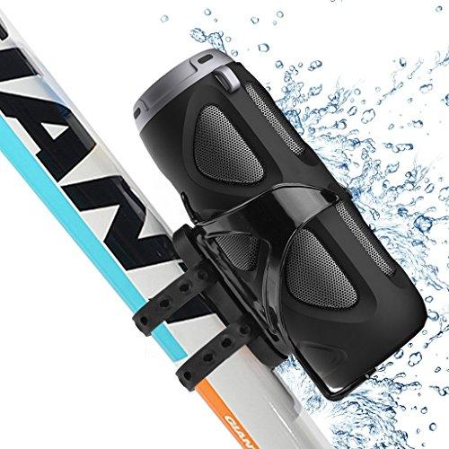 Avantree 10W Wasserfester (IPX4) tragbarer Outdoor Bluetooth Wireless Lautsprecher mit Befestigungskit fürs Fahrrad, Premium Sound, Unterstützt SD TF Karte, NFC - Cyclone
