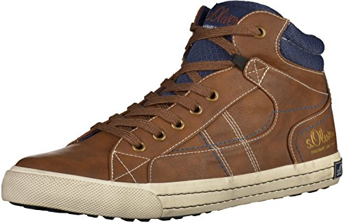 s.Oliver 15200, Sneakers Hautes homme Cognac