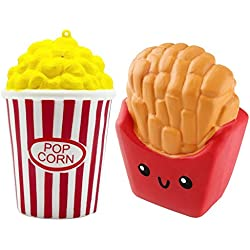 ZhengYue Squishy Kawaii Grandes Baratos Juguete Niños Squeeze Popcorn Papas Fritas Squishy Slow Rising Pack Descompresión Juguetes Compresivos