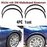 4x Universal Auto Radlauf Kotflügelverbreiterung Radläufe Verbreiterung Kohlefaser Farbe