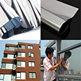 1Mx30cm One Way Solar Reflective Mirror Insulation Window Film Adhesive Privacy Opaque Glass Sticker Sunscreen Home Decor