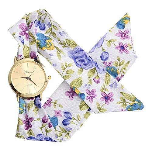 uch Armbanduhr Mode Frauen Kleiden Uhr Hochwertige Stoff Uhr Süße Mädchen Armbanduhr WIE Zeigen4 ()