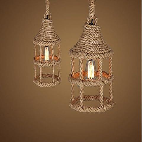 Vintage funi metalliche lampadario pendente Lighting