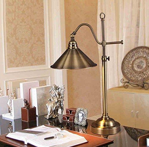 Économie d'énergie Protection des yeux - étude américaine de table de chevet de fer rétro lampe de chambre lampe de bureau créative - (Ne pas inclure la source lumineuse)