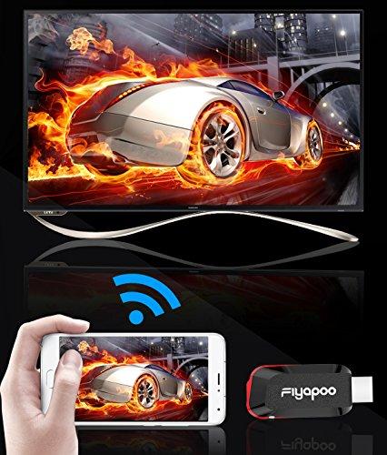 Miracast Dongle, 2.4G Wireless WIFI Display 1080P DLNA Ricevitore Airplay Dongle, Facile Collegamento e impostazione, Condividi Video Immagini Musica Documenti da tutti i dispositivi iPhone / iPad / Samsung Andorid a HDTV / Proiettore