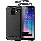 Teayoha Case for Samsung Galaxy A6 2018, with Tempered