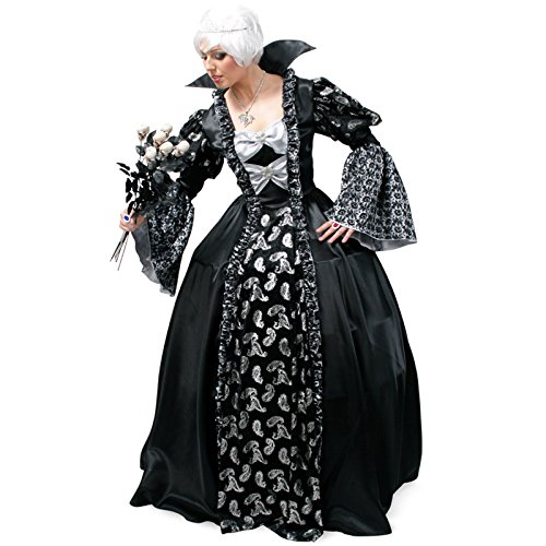 Kostüm Dark Princess Größe 46 Halloween Fasching Karneval Vampir (Halloween Kostüm Princess Dark)