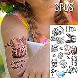 Handaxian 3pcsTatuaggio Adesivo Carattere Cinese Tatuaggio Ragazza Estate Tatuaggio Applique duratura