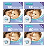 Lansinoh Disposable Nursing Breast Pads with Blue-Lock core pack of 4 x 60 pads (240 count)
