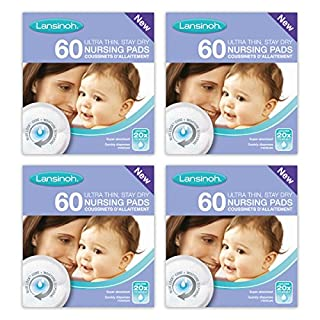 Lansinoh Disposable Nursing Breast Pads with Blue-Lock core pack of 4 x 60 pads (240 count) (B004ALE1LE) | Amazon price tracker / tracking, Amazon price history charts, Amazon price watches, Amazon price drop alerts