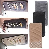 CALISTOUK Car Auto Sun Visor CD DVD Card Case Storage Holder Clipper Bag Holder Bag Organizer