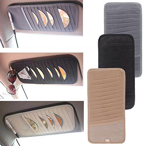 calistouk Auto Sonnenblende CD DVD Card Case Storage Halter Clipper Tasche Halter Tasche Organizer