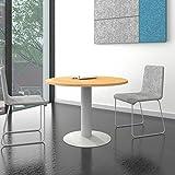 OPTIMA runder Besprechungstisch Esstisch Küchentisch Tisch Buche Rund Ø 100 cm