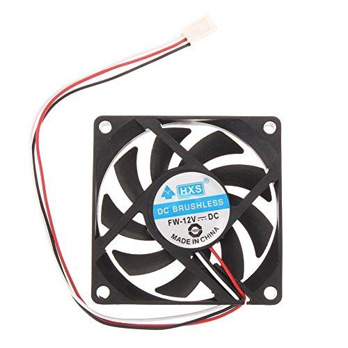 Broadroot Ventilator PC Gehäuse für Laptop Kühler 12V 7cm 70mm PC CPU Kühler -