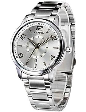 Mode Klassisch Geliebt Damenuhren Quarzuhr Luxus Alloy Legierung Uhrenarmband Armbanduhren Für Damen, Silber-Weiß