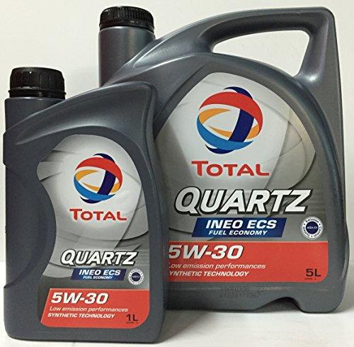 Huile Moteur TOTAL QUARTZ INEO ECS 5W30 6 litre (1×5 lts + 1×1 lt) pas cher