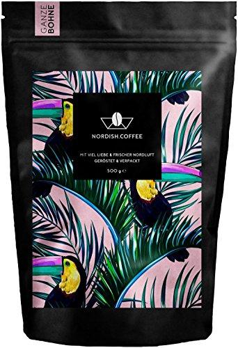 Nordish.Coffee Peruhondas Kaffeebohnen / Premium Kaffee ganze Bohnen für Kaffeevollautomaten - 100% Arabica Kaffee aus Peru und Honduras / Hochland-Kaffee / Bio-Anbau und Fair Gehandelt / Schonend und Frisch Geröstet (Ganze Bohne)