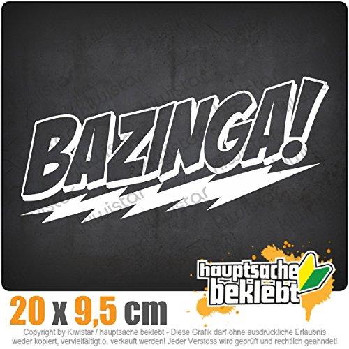 BAZINGA 20 x 10 cm IN 15 FARBEN - Neon + Chrom! Sticker Aufkleber