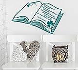 Wandtattoo/Wandsticker/Wandaufkleber ***Bücher geben dir Flügel..... (Größen und Farbauswahl)
