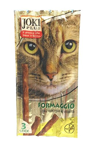 Bayer Gatto, Snack Joki Plus 3 Sticks, Formaggio