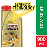 Castrol POWER1 4T 10W-30 Synthetic Engine Oil for Bikes (900ml)
