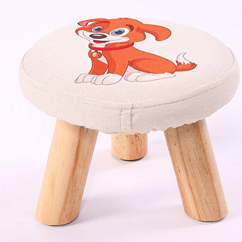 Dana Carrie En d'autres selles banc de chaussures sur une table basse tabouret bas en bois massif et tissus adultes enfants créatifs élégante petite chaise canapé tabouret rond, chien