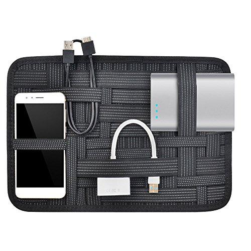 Grid-it Organizer (OTraki Organisationssystem A4 Organizer Zubehör 315 x 220mm Multifunktionale Aufbewahrungstasche mit Reißverschlussbeutel Gridit Elastisches Band Reise InnereTasche für Speicherkarten Ladenkabel)