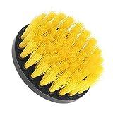 Mengonee Gelb Grün Drill Reinigungsbürste Heavy Duty-Reiniger Scrubber mit steifen Borsten für Teppich Automatten Tile